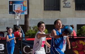 Uno de los partidos disputados a lo largo del día. / Foto: Alberto Nevado/FEB.
