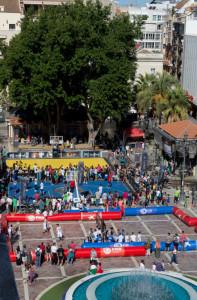 Aspecto de la plaza de Las Monjas durante el evento. / Foto: Alberto Nevado/FEB.