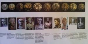 Los diferentes personajes históricos que aparecen representados en las monedas.
