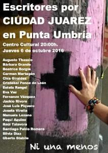 Cartel del acto que se celebrará en Punta Umbría este jueves 6 de octubre.