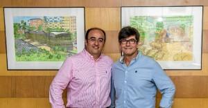 Visita de Andrés Espuelas a Aguas de Huelva.