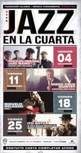 Calendario de actuaciones de 'Jazz en la Cuarta'.