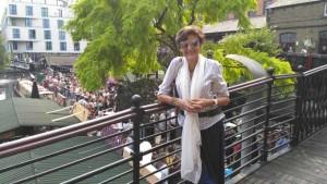 Sira Carrasco expone estos días en Huelva.