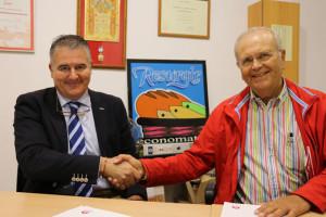 Alfonso Márquez y Manuel García firmaron el acuerdo.