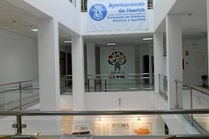 Interior de la Casa de la Juventud.