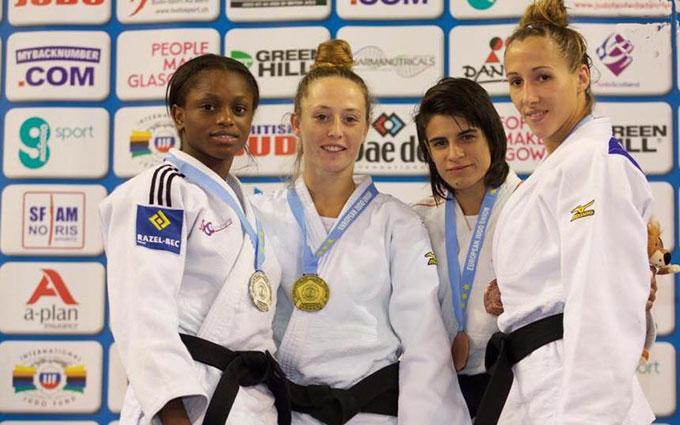 Cinta García fue bronce en la prueba de la Copa del Mundo en Glasgow. / Foto: @JudoHuelva1.