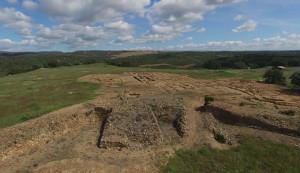 Zona de excavación en Tejada la Vieja.