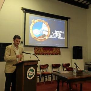 El onubense Manuel Minero es el Director Ejecutivo del Museo del Mar de San Juan de Puerto Rico. / En la imagen, presencia del Museo del Mar en el Primer Congreso de Historia de la ciudad de San Juan celebrado en el Centro de Estudios Avanzado de Puerto Rico y el Caribe.
