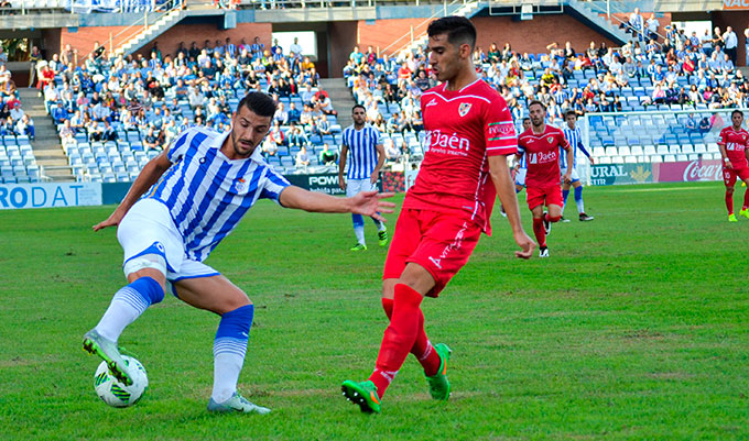 Rubén Mesa se perfila como una de las novedades del Recre ante el Marbella.