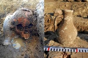 Ajuar de enterramiento encontrado en la necrópolis datada entre los siglos V-VI d.C.
