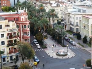 La Avenida de Huelva en Badajoz, en la actualidad.