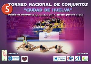 Cartel del torneo de gimnasia rítmica que se celebra en Huelva este sábado.