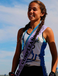 Cinta Campos, medalla de plata en Mujer Infantil.