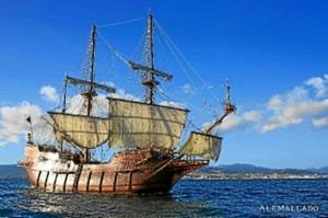El Galeón Andalucía es una réplica de un galeón español del siglo XVII.