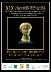 Cartel de las XIX Jornadas de Arqueología y Territorio de Aljaraque.