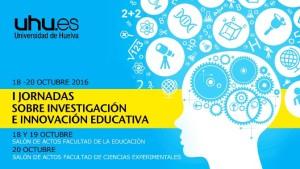 cartel de las jornadas que se van a celebrar en la Universidad de Huelva