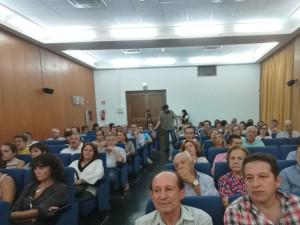 Imagen de los asistentes al acto del Museo. / Foto: Emilio Romero.