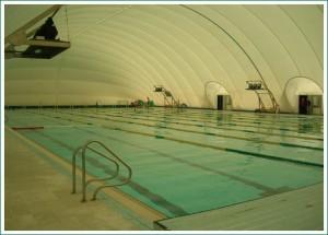 Imagen de la piscina cubierta actual, que ha sido clausurada.