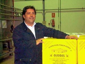 Antonio Rodríguez, presidente de la Cooperativa Ntra. Sra. de la Oliva de Gibraleón.