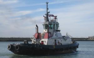 El remolcador 'VB Huelva' de la compañía armadora Boluda.