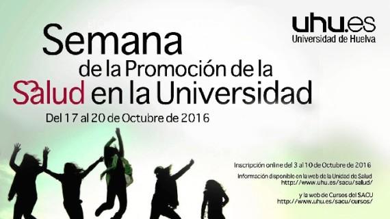 La Universidad de Huelva desarrollará cerca de 50 actividades en la Semana de la Salud
