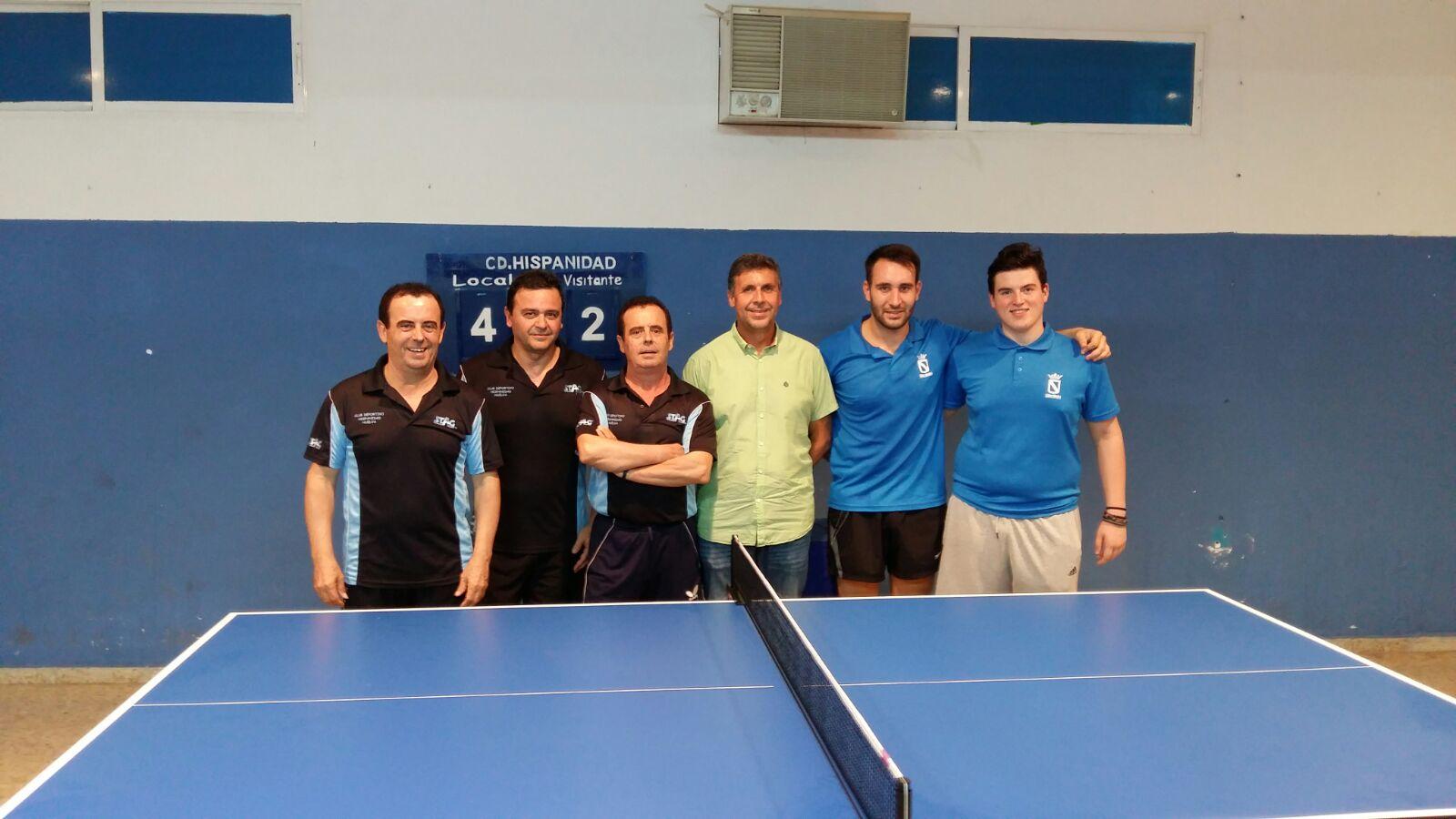 Equipo de la Tercera División de tenis de mesa del CD Asem Hispanidad.