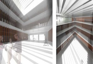 Render del proyecto ganador de SV60 Cordón y Liñán Arquitectos.