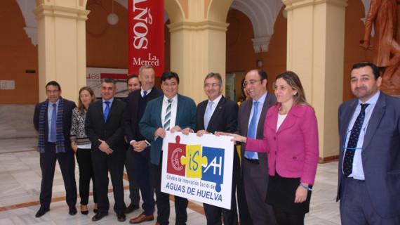 La Universidad y Aguas de Huelva crean una cátedra para la innovación social y operativa del agua