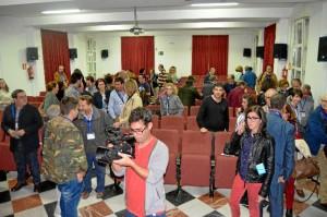 El acto contó con un gran número de asistentes.