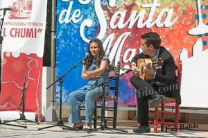 La onubense, acompañada por el guitarrista Antonio del Carmen Domínguez.