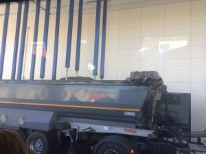 Sistema de muestro de la carga de los camiones.