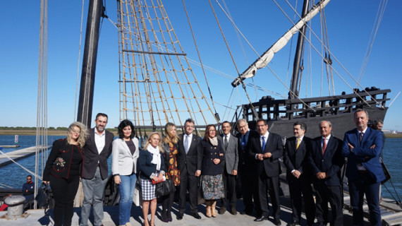 Construyen en Punta Umbría una réplica de la Nao Santa María para conmemorar el 525 aniversario del Descubrimiento