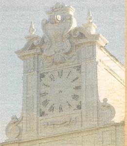 Primer plano del reloj de nuestro Ayuntamiento.