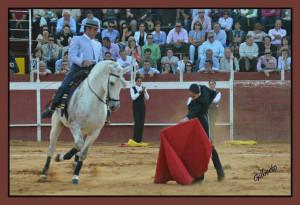 Un momento de su espectáculo con caballos.