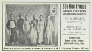 La Troupe See-Hee era uno de los grupos circenses más importantes de Europa a principios del siglo XX.