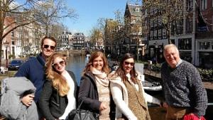 Junto a la familia de José Luis, en Ámsterdam.