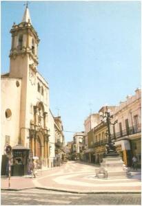 Iglesia de la Purísima Concepción con su exornado reloj.