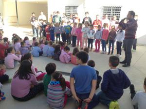 Actividad en el colegio de Zufre.