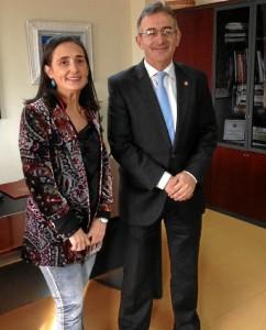 Asunción Grávalos y Francisco Ruiz reiteran su compromiso de colaboración para promover el desarrollo de la provincia