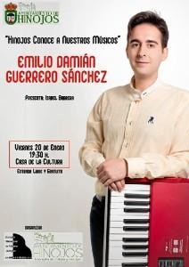 Cartel del concierto de Emilio Guerrero en Hinojos.