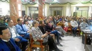 Afluencia de publico, ha conseguido el apoyo de los ciudadanos y de las entidades.