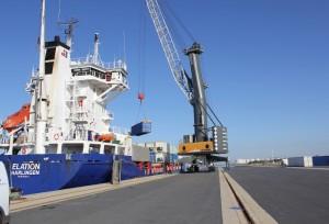 El nodo ferroviario de Majarabique resulta estratégico para el tráfico de contenedores del Puerto de Huelva.