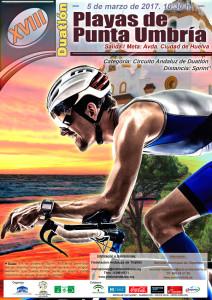 Cartel anunciador del evento que tendrá lugar en Punta Umbría el 5 de marzo.