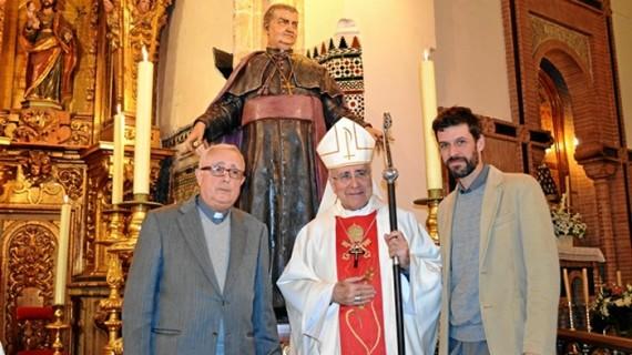 La imagen de San Manuel González ya señala el sagrario de la parroquia de San Pedro