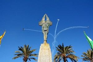 Palos de la Frontera conmemora el 91 Aniversario de la partida del Plus Ultra desde el puerto palermo.