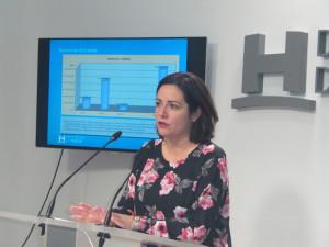 Rueda de prensa de la diputada Aurora Vélez.