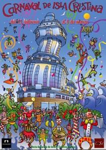 Cartel del Carnaval isleño 2017. obra de Ramón Armas Morales.