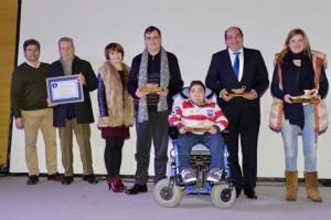 Antonio junto a los otros premiados.