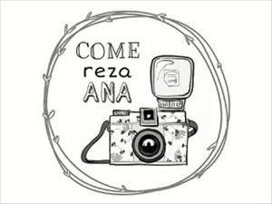 Logotipo de 'Come, Reza, Ana'.