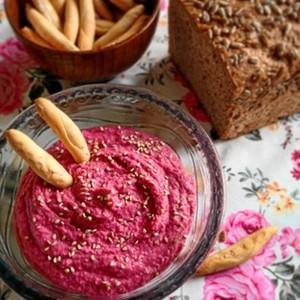 'Hummus de remolacha', una de sus recetas preferidas.
